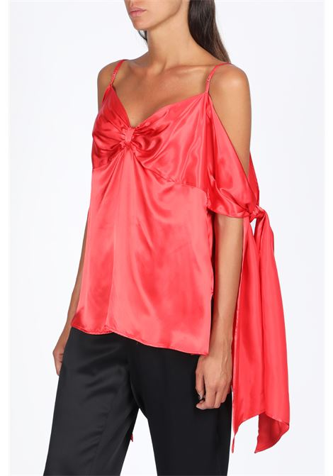 satin top with knots MM6 MAISON MARGIELA | 40 | S32NC0588 S52219RED