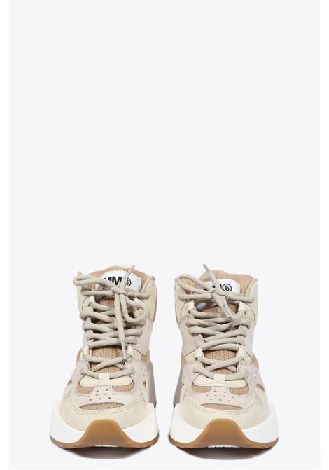 lace-up leather sneaker MM6 MAISON MARGIELA | 10000039 | S40WS0122 P2814BEIGE