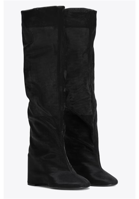 Knee-high boots with sheer  MM6 MAISON MARGIELA | 76 | S40WW0070 P2810BLACK