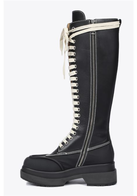 leather knee-high lace up boots  MM6 MAISON MARGIELA | 76 | S40WW0071 P2811BLACK