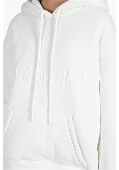 padded cotton hoodie with logo MM6 MAISON MARGIELA | -108764232 | S62GU0007 S25440WHITE