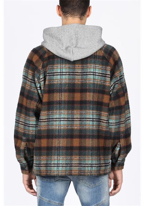 REPRESENT | 3 | M06010 HOODED FLANNEL JACKETTEAL