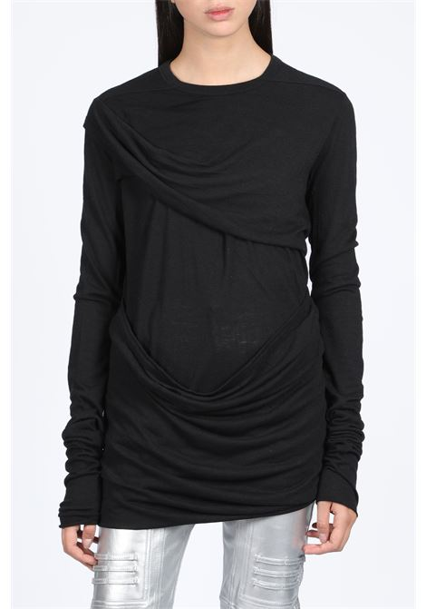 LONG SLEEVES DRAPED T-SHIRT RICK OWENS LILIES | 8 | LI19F3201 R T-SHIRT09
