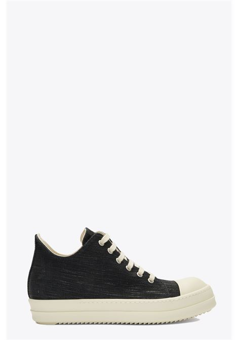 Black waxed denim low sneaker RICK OWENS-DRKSHDW | 10000039 | DU19F6802 HDLQ SNEAKERS09