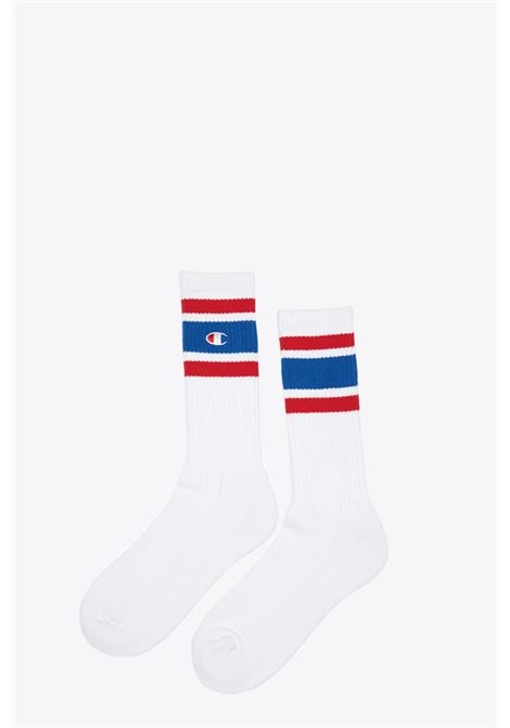 CHAMPION | 33 | 804393 1PP CREW SOCKSWHT/BAI/RED