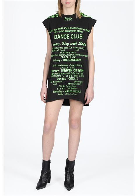 MISBHV | 11 | W-1131 DANCE CLUB LONG DRESSWASHED BLACK