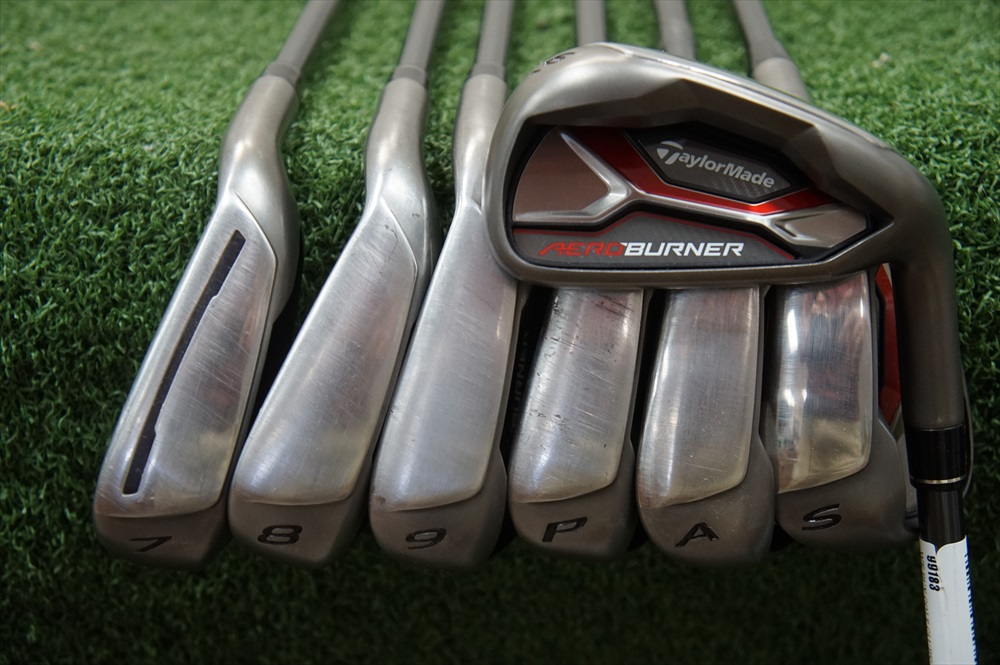 taylormade aeroburner graphite iron set senior flex irons 6 sw 278486 used golf ebay. Black Bedroom Furniture Sets. Home Design Ideas
