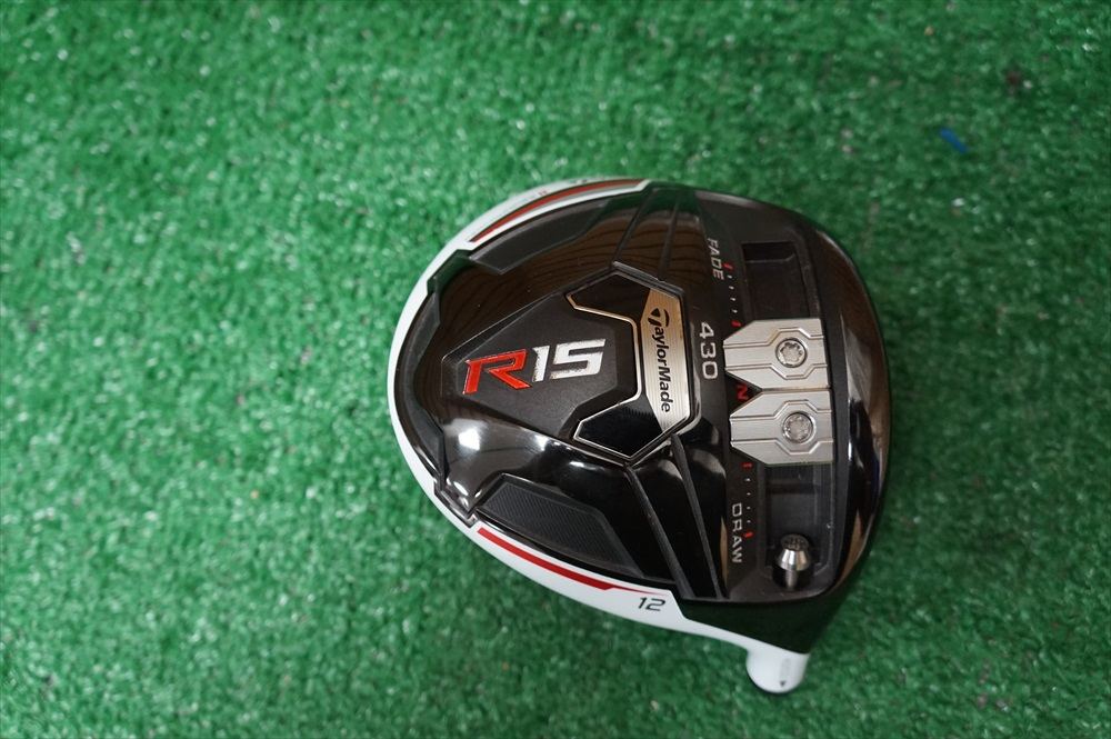 TAYLORMADE R15 430 12* DRIVER HEAD ONLY GOOD CONDITION 500204