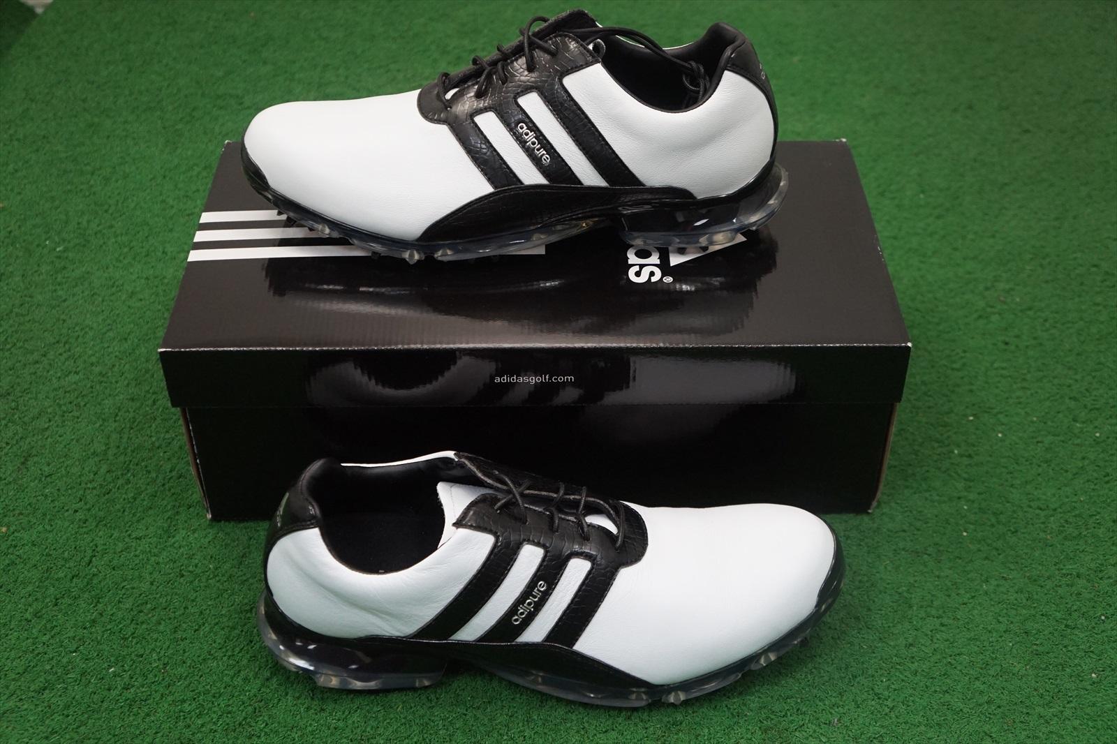 Nuove Adidas Adipure Classico Uomo / Golf Scarpa 9 Nero / Uomo Bianco Q44839 d8752d