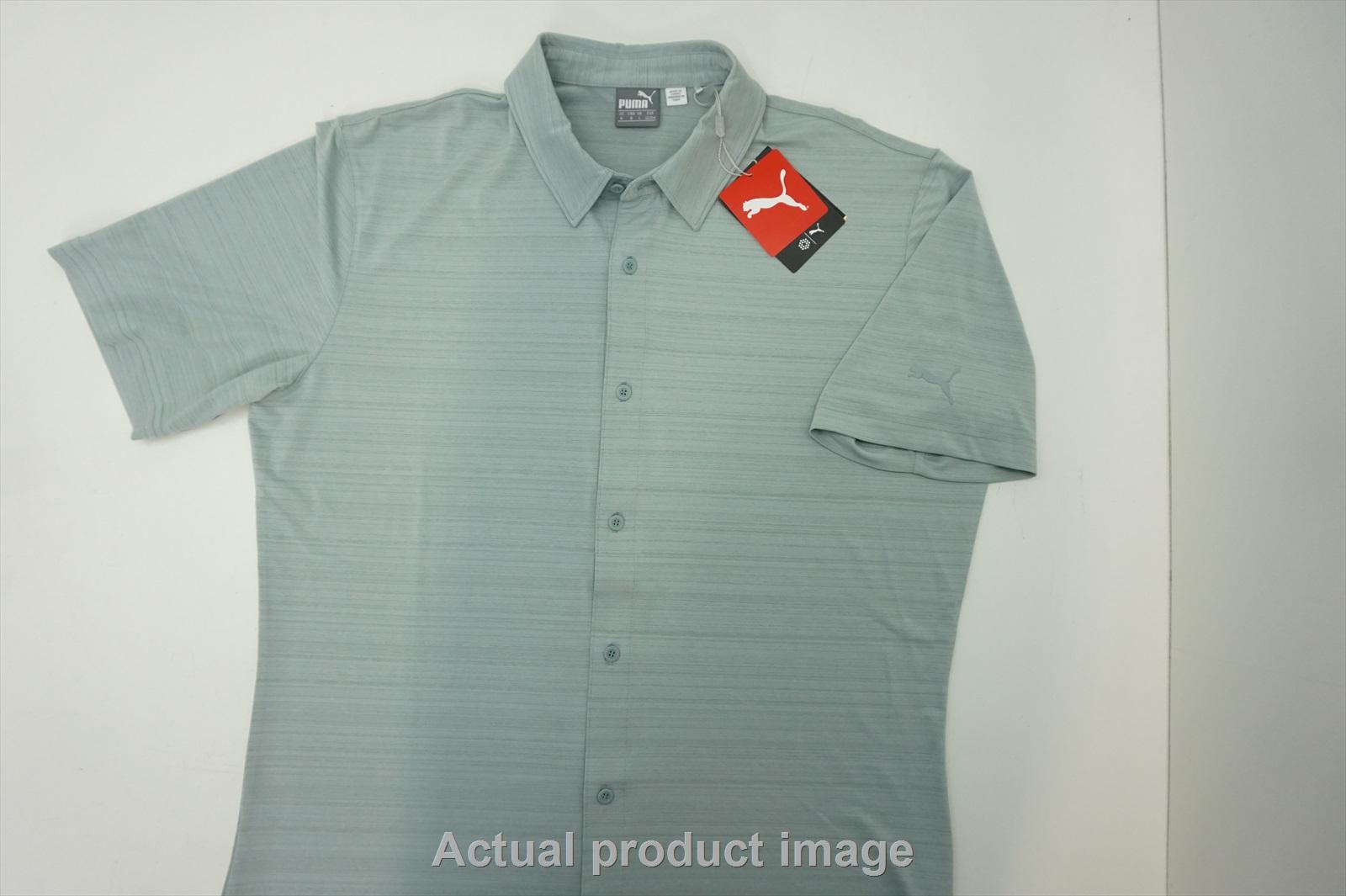 the latest add69 9839e Details about NEW Puma Golf Breezer Shirt Polo Mens Medium Quarry 213a