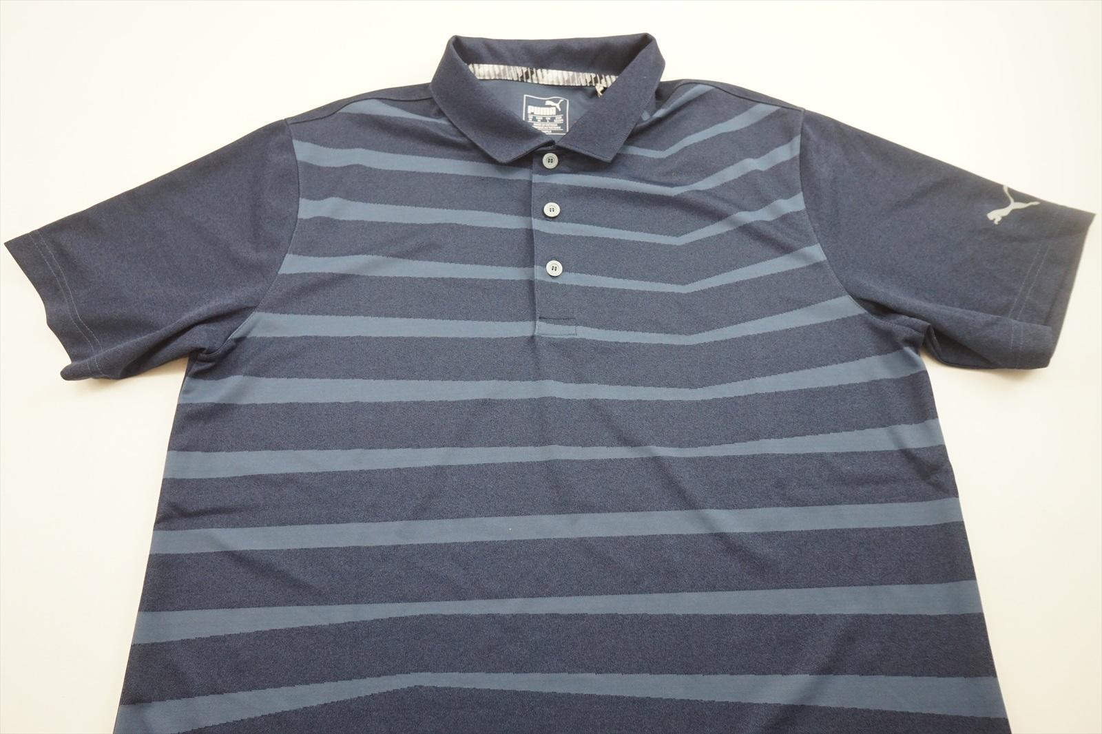 c375bc4da8 New Puma Golf Striped Polo Mens Size Medium Grey 217g | eBay