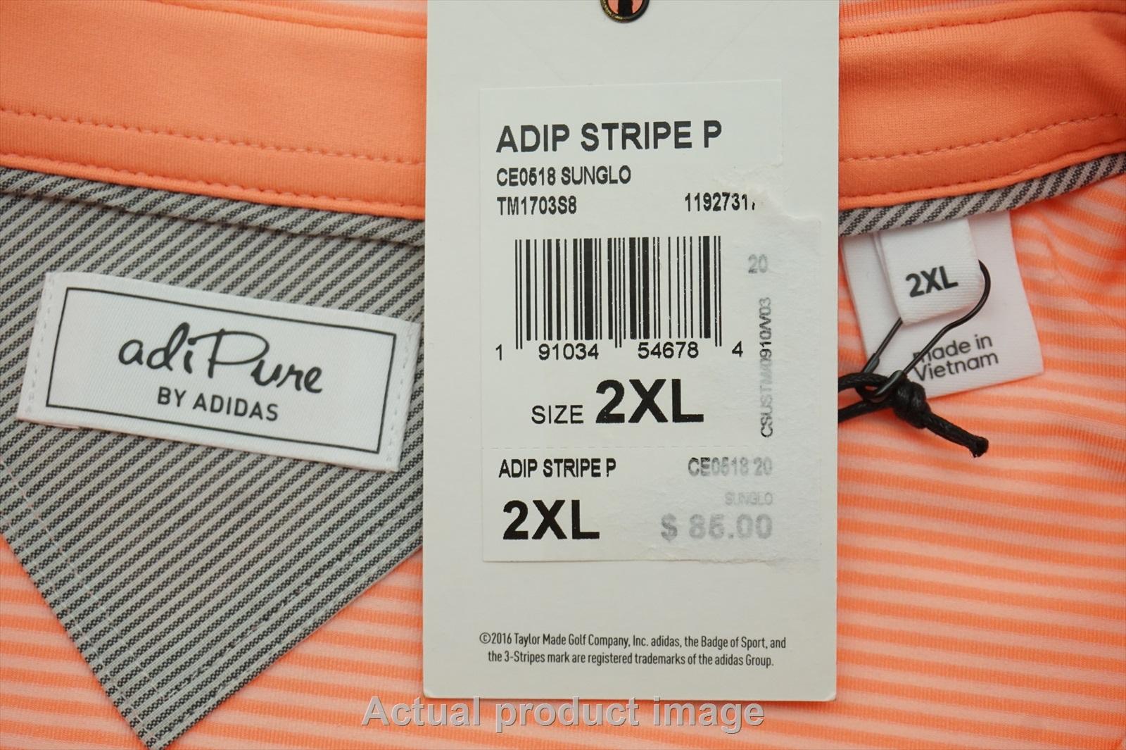NEW Adidas Golf Polo Mens Size XXL Pink W/Logo 215c | eBay