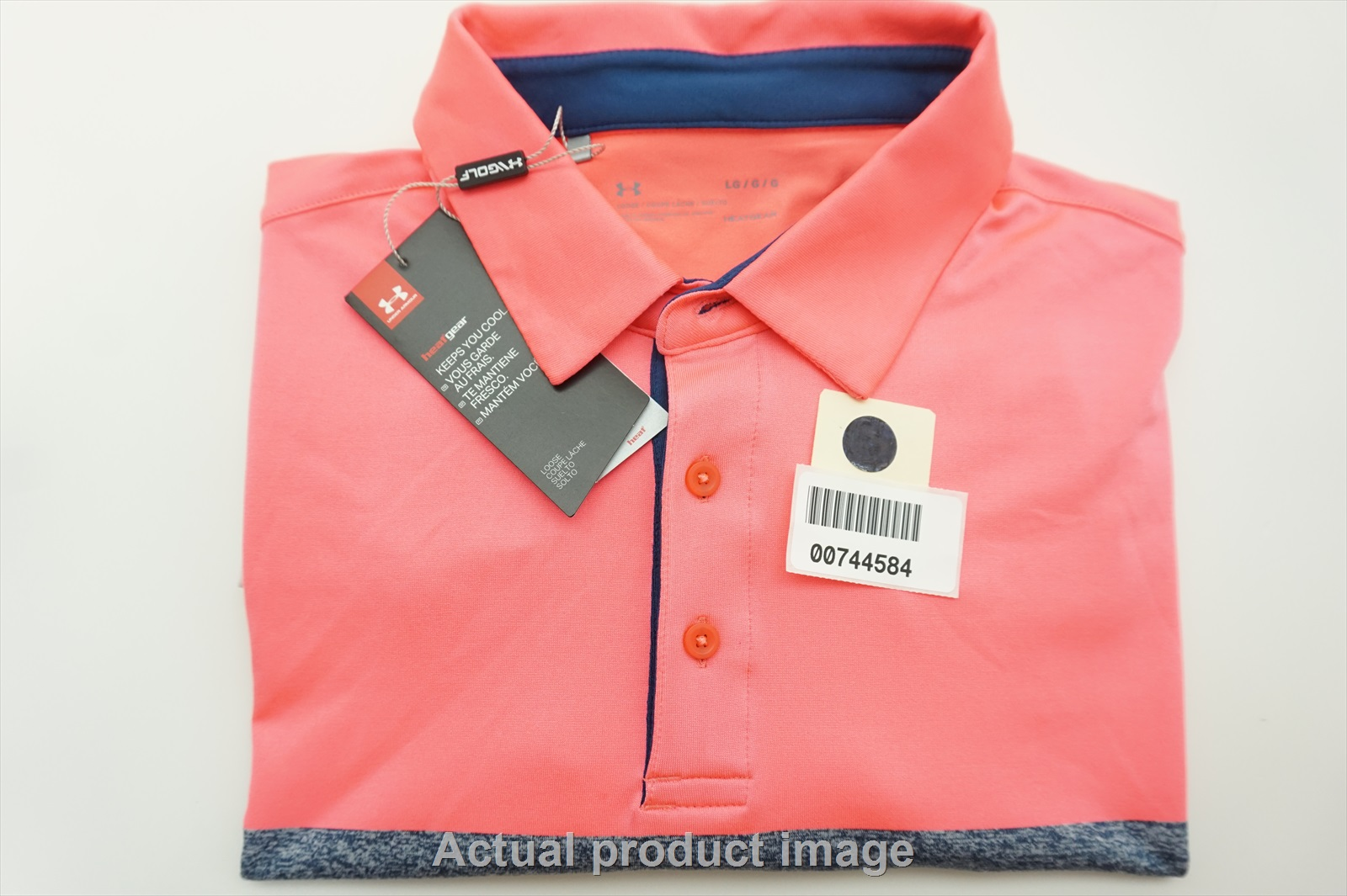 083a3cb39 NEW Under Armour Golf Heatgear Polo Mens Size Large 229a. Choose From Our  Growing Collection of Golf Threads. Major Golf Brands. Great Savings