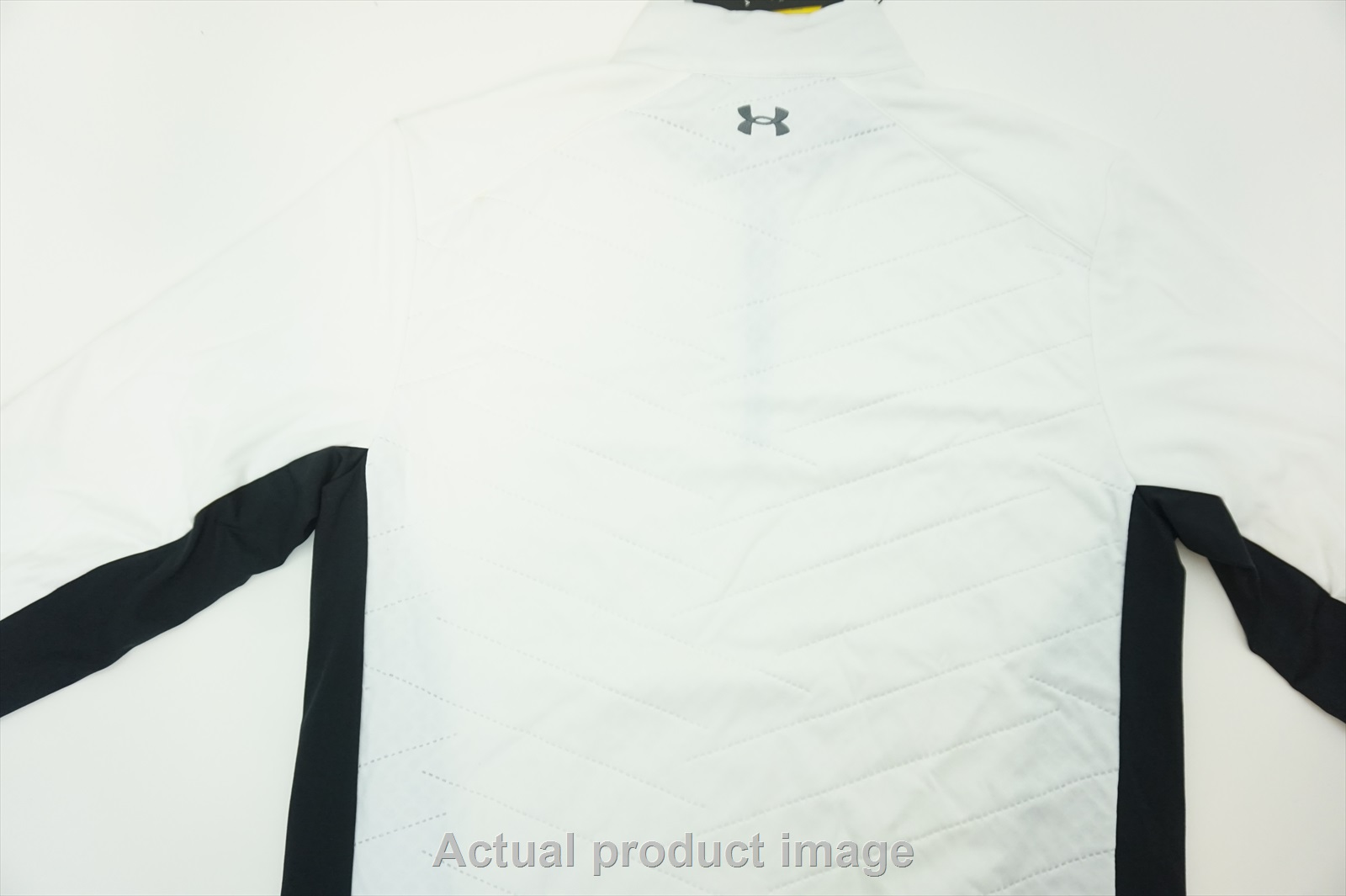 126419cc9 New Under Armour Golf Reactor Pullover Mens Size Large White/Black ...
