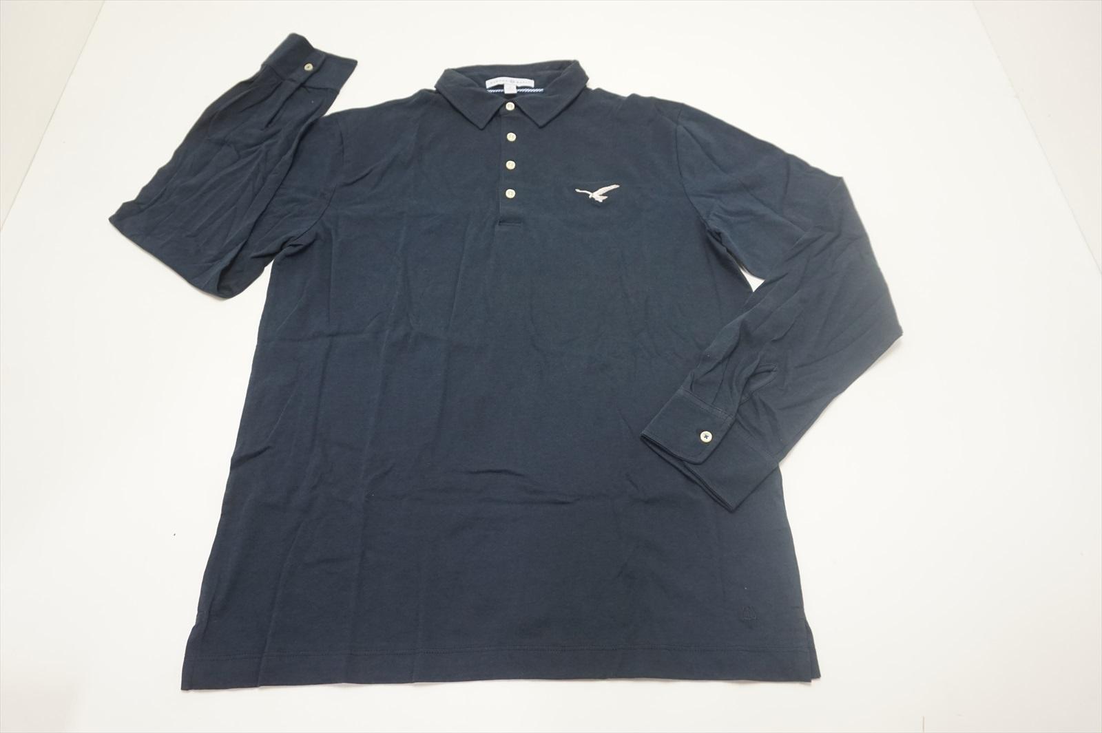 Neu Strong Boalt Golf Long Sleeve Polo Herren Größe S Marine W / Logo 582A