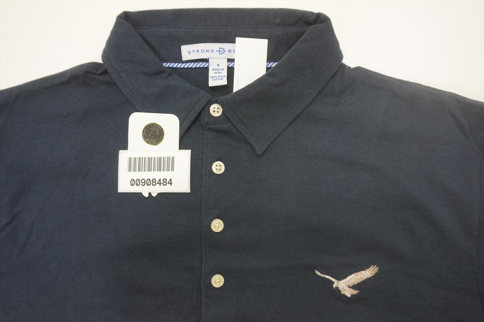 Indexbild 4 - Neu Strong Boalt Golf Long Sleeve Polo Herren Größe S Marine W / Logo 582A