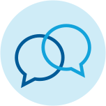 icon showing two talk bubbles