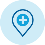 icon showing location recognition