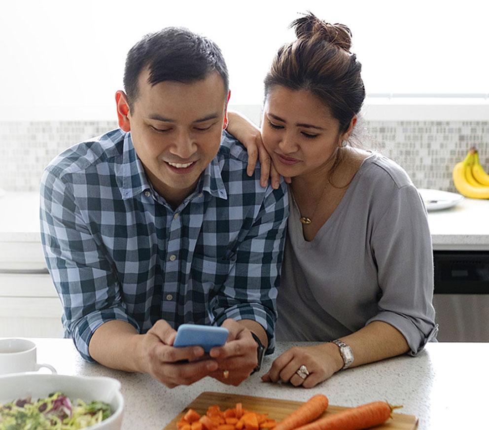 husband and wife preparing healthy good