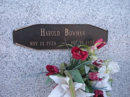 BOWMAN, HAROLD - Anderson County, Tennessee | HAROLD BOWMAN - Tennessee Gravestone Photos
