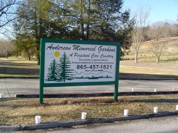 *ANDERSON MEMORIAL GARDENS SIG,  - Anderson County, Tennessee    *ANDERSON MEMORIAL GARDENS SIG - Tennessee Gravestone Photos
