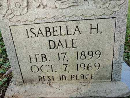 DALE, ISABELLA H - Anderson County, Tennessee   ISABELLA H DALE - Tennessee Gravestone Photos