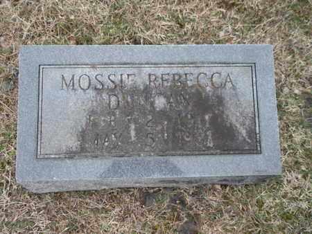 DUNCAN, MOSSIE REBECCA - Anderson County, Tennessee   MOSSIE REBECCA DUNCAN - Tennessee Gravestone Photos