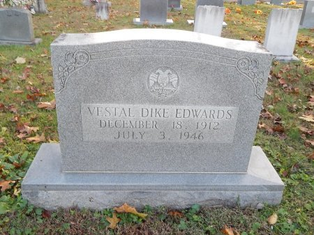 EDWARDS, VESTAL DIKE - Anderson County, Tennessee | VESTAL DIKE EDWARDS - Tennessee Gravestone Photos
