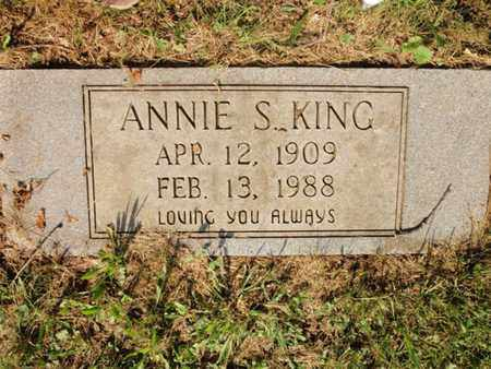 KING, ANNIE S - Anderson County, Tennessee | ANNIE S KING - Tennessee Gravestone Photos