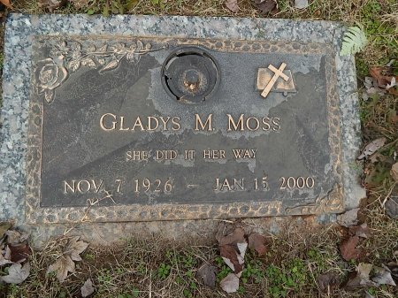MOSS, GLADYS - Anderson County, Tennessee | GLADYS MOSS - Tennessee Gravestone Photos