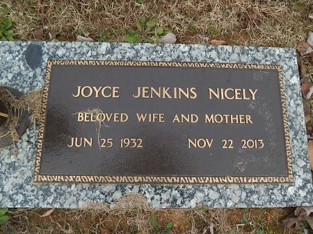 NICELY, JOYCE - Anderson County, Tennessee | JOYCE NICELY - Tennessee Gravestone Photos