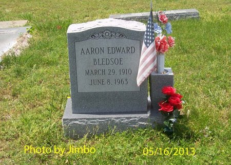 BLEDSOE, AARON EDWARD - Bedford County, Tennessee | AARON EDWARD BLEDSOE - Tennessee Gravestone Photos