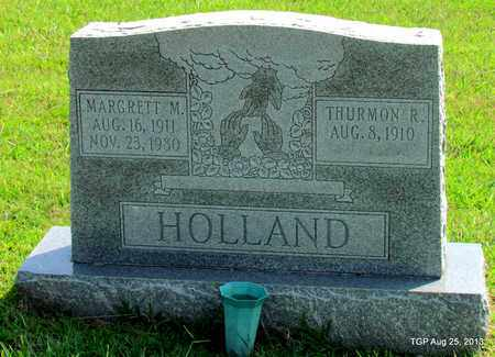 HOLLAND, THURMON R - Benton County, Tennessee | THURMON R HOLLAND - Tennessee Gravestone Photos