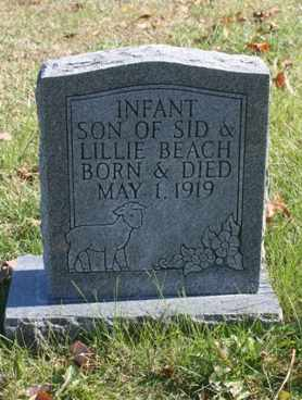 BEACH, INFANT SON - Bledsoe County, Tennessee   INFANT SON BEACH - Tennessee Gravestone Photos