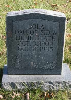 BEACH, LOLA - Bledsoe County, Tennessee   LOLA BEACH - Tennessee Gravestone Photos