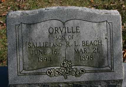 BEACH, ORVILLE - Bledsoe County, Tennessee | ORVILLE BEACH - Tennessee Gravestone Photos