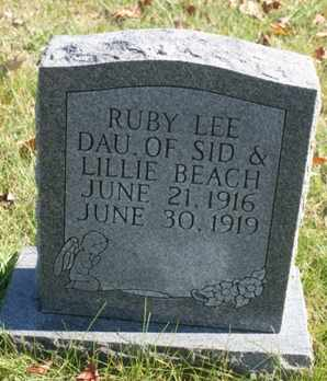 BEACH, RUBY LEE - Bledsoe County, Tennessee | RUBY LEE BEACH - Tennessee Gravestone Photos