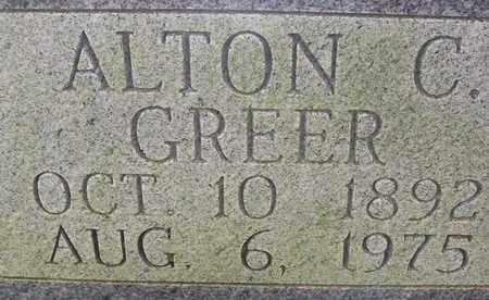 GREER, ALTON C - Bledsoe County, Tennessee | ALTON C GREER - Tennessee Gravestone Photos