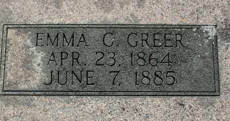 GREER, EMMA C. - Bledsoe County, Tennessee | EMMA C. GREER - Tennessee Gravestone Photos