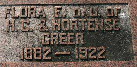GREER, FLORA E. - Bledsoe County, Tennessee | FLORA E. GREER - Tennessee Gravestone Photos