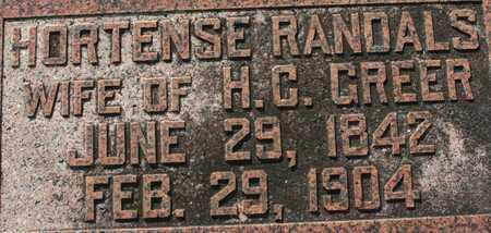 GREER, HORTENSE - Bledsoe County, Tennessee | HORTENSE GREER - Tennessee Gravestone Photos