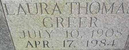 GREER, LAURA THOMAS - Bledsoe County, Tennessee | LAURA THOMAS GREER - Tennessee Gravestone Photos