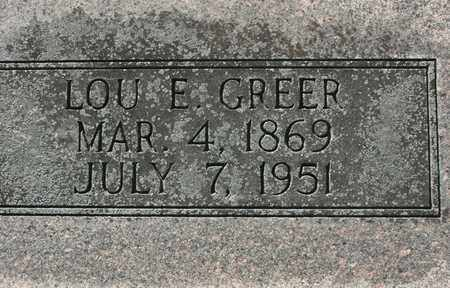 GREER, LOU E. - Bledsoe County, Tennessee | LOU E. GREER - Tennessee Gravestone Photos