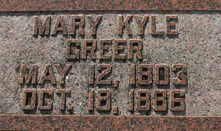 GREER, MARY KYLE - Bledsoe County, Tennessee | MARY KYLE GREER - Tennessee Gravestone Photos