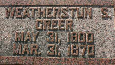 GREER, WEATHERSTUN S. - Bledsoe County, Tennessee | WEATHERSTUN S. GREER - Tennessee Gravestone Photos