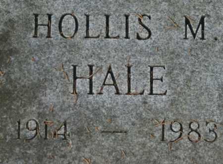 HALE, HOLLIS M. - Bledsoe County, Tennessee   HOLLIS M. HALE - Tennessee Gravestone Photos