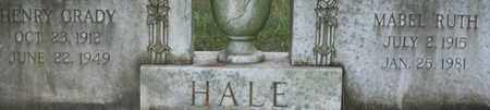 HALE, HENRY GRADY - Bledsoe County, Tennessee | HENRY GRADY HALE - Tennessee Gravestone Photos