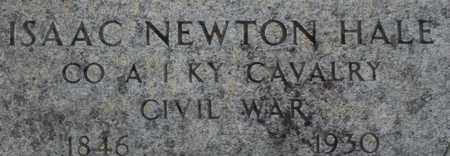 HALE, ISAAC NEWTON - Bledsoe County, Tennessee | ISAAC NEWTON HALE - Tennessee Gravestone Photos