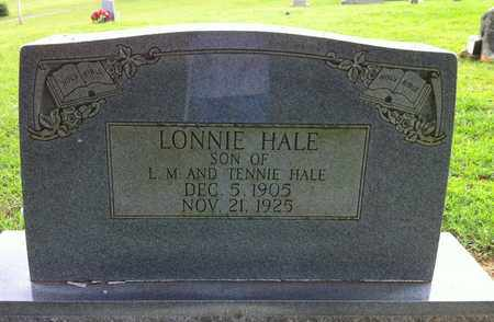 HALE, LONNIE - Bledsoe County, Tennessee | LONNIE HALE - Tennessee Gravestone Photos