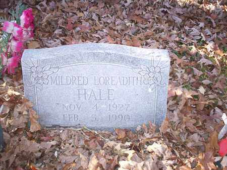 HALE, MILDRED LOREADITH - Bledsoe County, Tennessee   MILDRED LOREADITH HALE - Tennessee Gravestone Photos